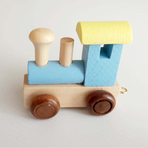 Wooden Coloured Train - Front Engine