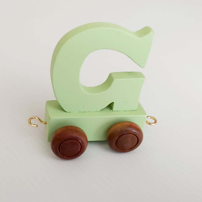 Wooden Coloured Letter G