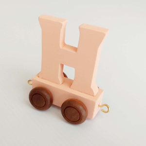 Wooden Coloured Letter H