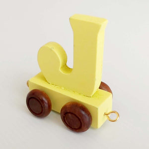 Wooden Coloured Train Letter J
