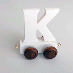 Wooden Coloured Letter K