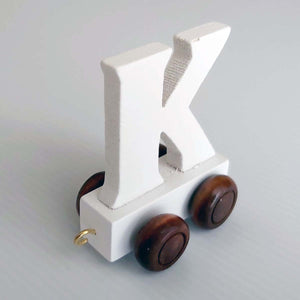 Wooden Coloured Train Letter K