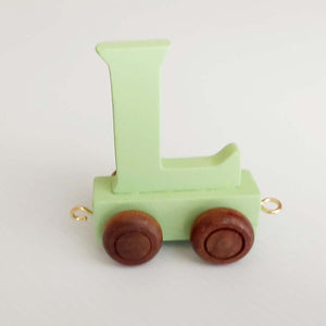 Wooden Coloured Letter L