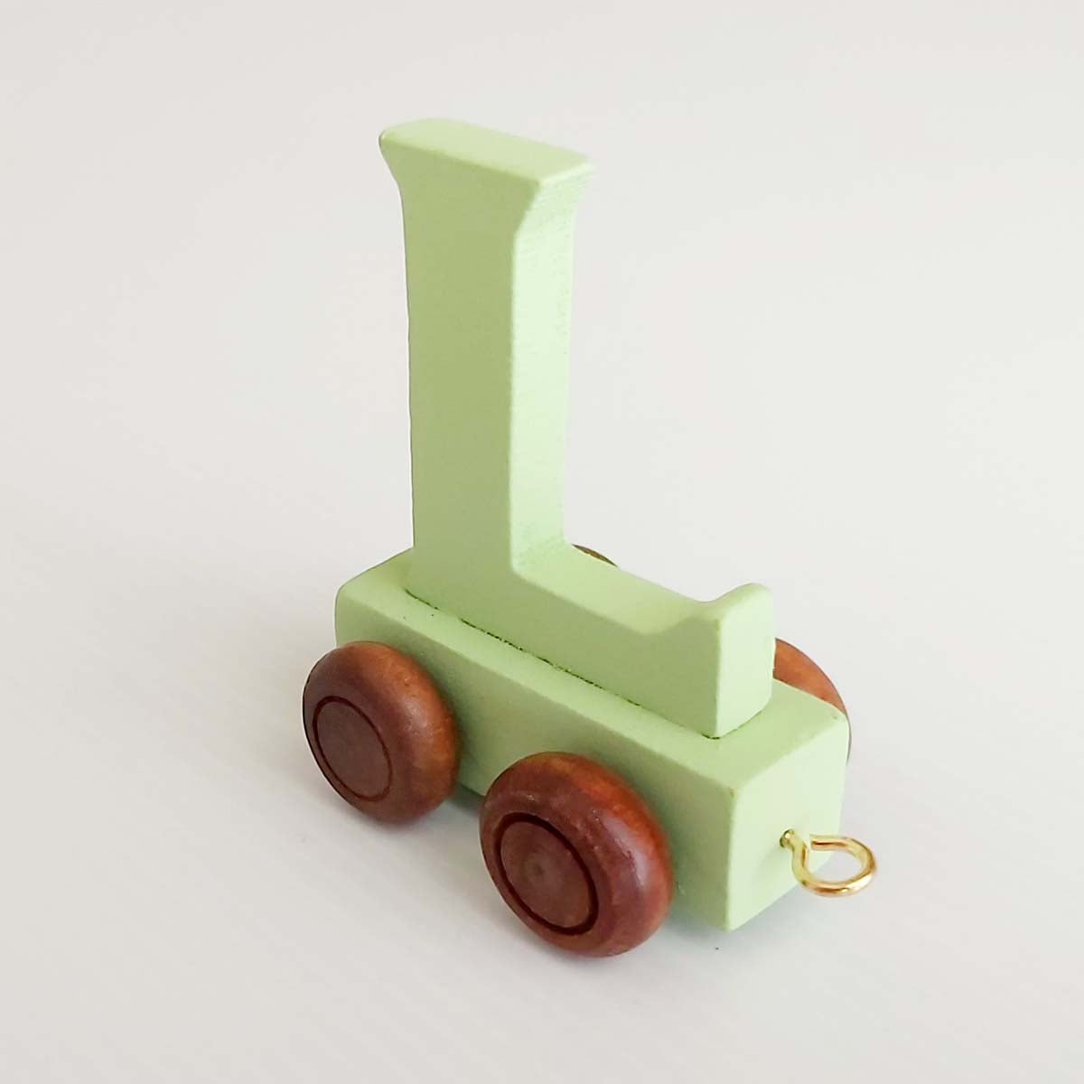 Wooden Coloured Train Letter L