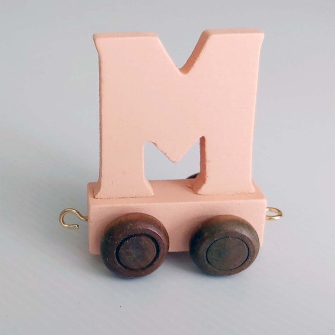 Wooden Coloured Letter M