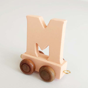 Wooden Coloured Train Letter M
