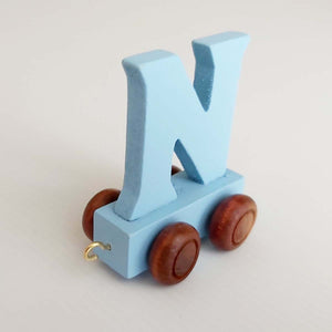 Wooden Coloured Letter N