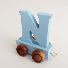 Wooden Coloured Train Letter N
