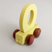 Wooden Coloured Letter O