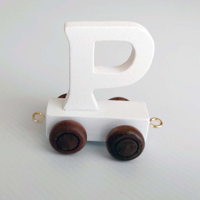 Wooden Coloured Letter P