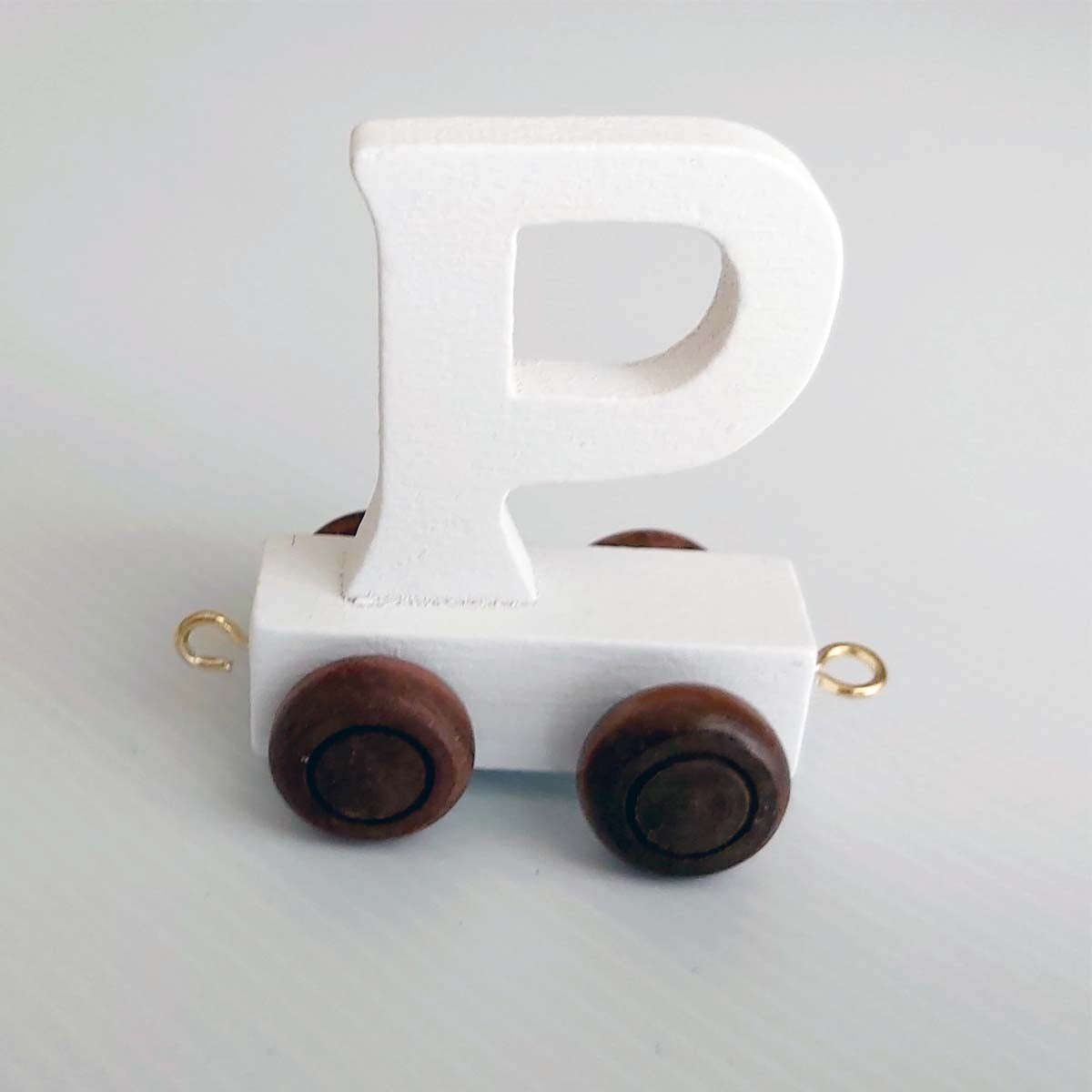Wooden Coloured Train Letter P
