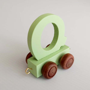 Wooden Coloured Letter Q