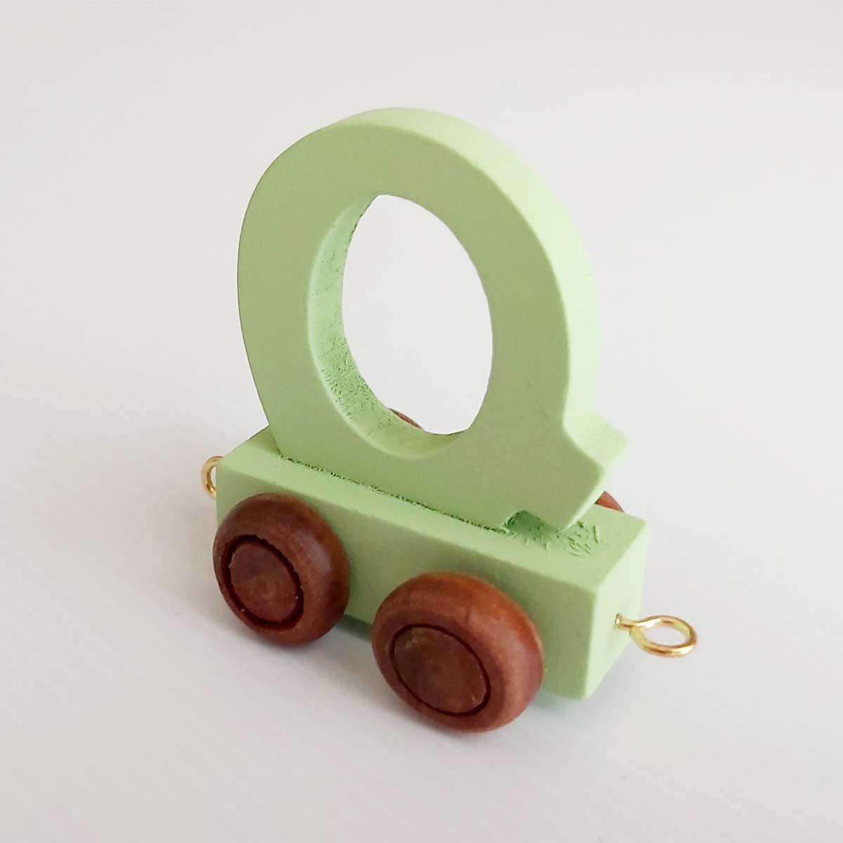 Wooden Coloured Train Letter Q