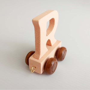 Wooden Coloured Letter R