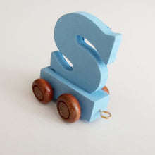 Wooden Coloured Train Letter S