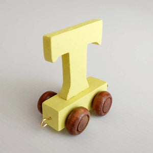 Wooden Coloured Unicorn Letter T