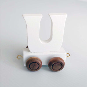Wooden Coloured Letter U