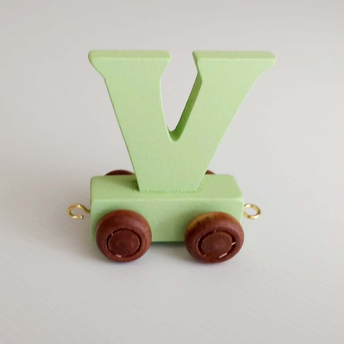 Wooden Coloured Letter V