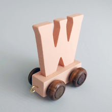 Wooden Coloured Letter W