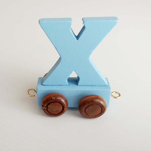 Wooden Coloured Train Letter X