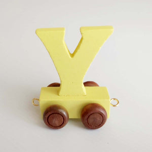 Wooden Coloured Unicorn Letter Y
