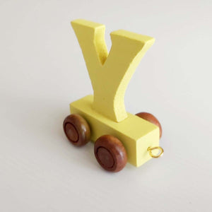 Wooden Coloured Letter Y