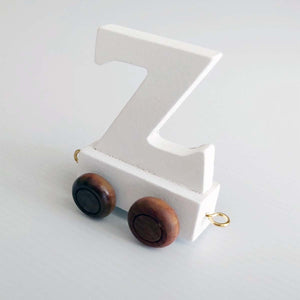 Wooden Coloured Letter Z