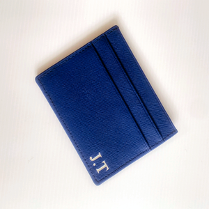 INK NAVY CLASSIC DOUBLE CARD HOLDER