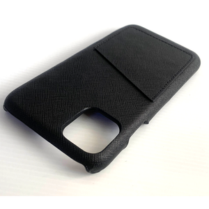 IPHONE 11 PRO MAX  BLACK SAFFIANO LEATHER CASE