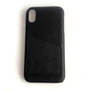 IPHONE X/XS  BLACK SAFFIANO LEATHER CASE