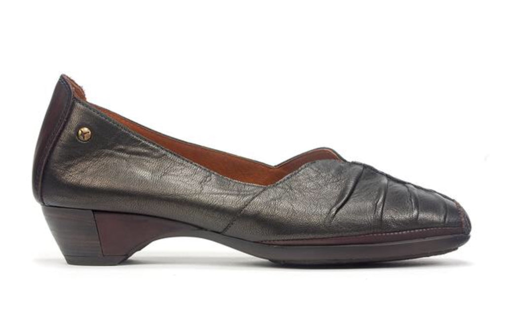 Pikolinos Gandia Pumps in Really Dark Green Leather, Our Beautiful Price $199