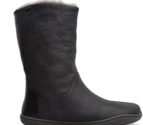 Camper Peu Leather Boots with Wool Lining in Black, Our Beautiful Price $239