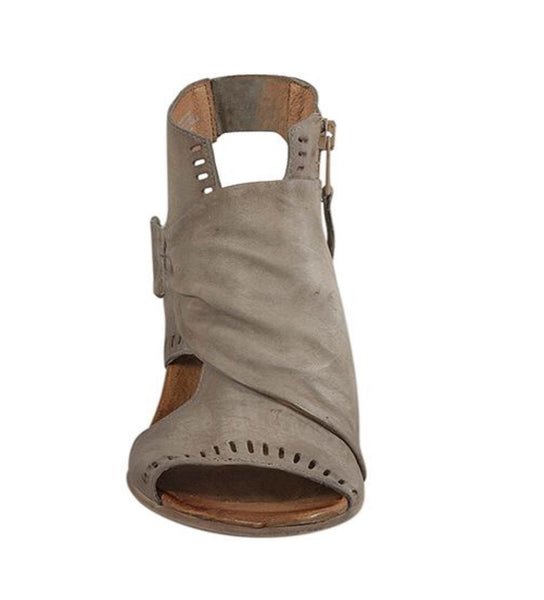 Miz Mooz Moonlight Sandals In Pebble Grey Leather $199, Our Beautiful Price $129