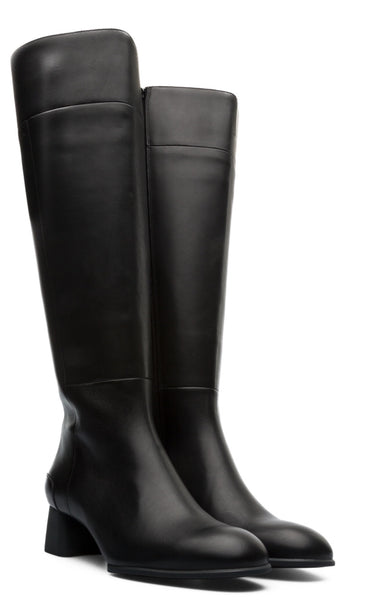 Camper Knee High Boots in Black Leather, Our Beautiful Price $239