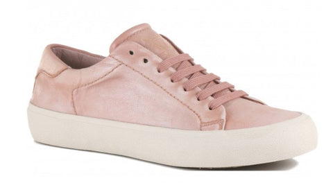Bussola Sneakers with Laces, Blush Pink Leather, Our Beautiful Price $89