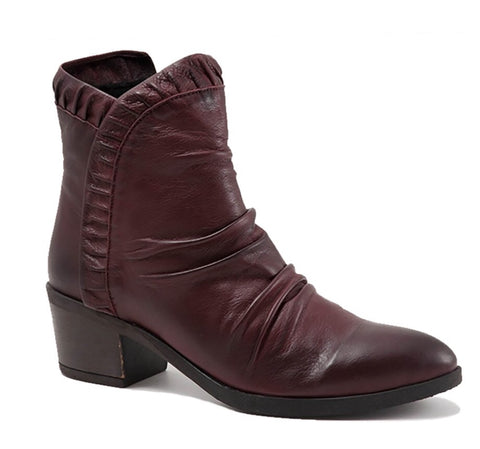 Bueno Connie Boots in Merlot Burgundy Leather, Our Beautiful Price$169