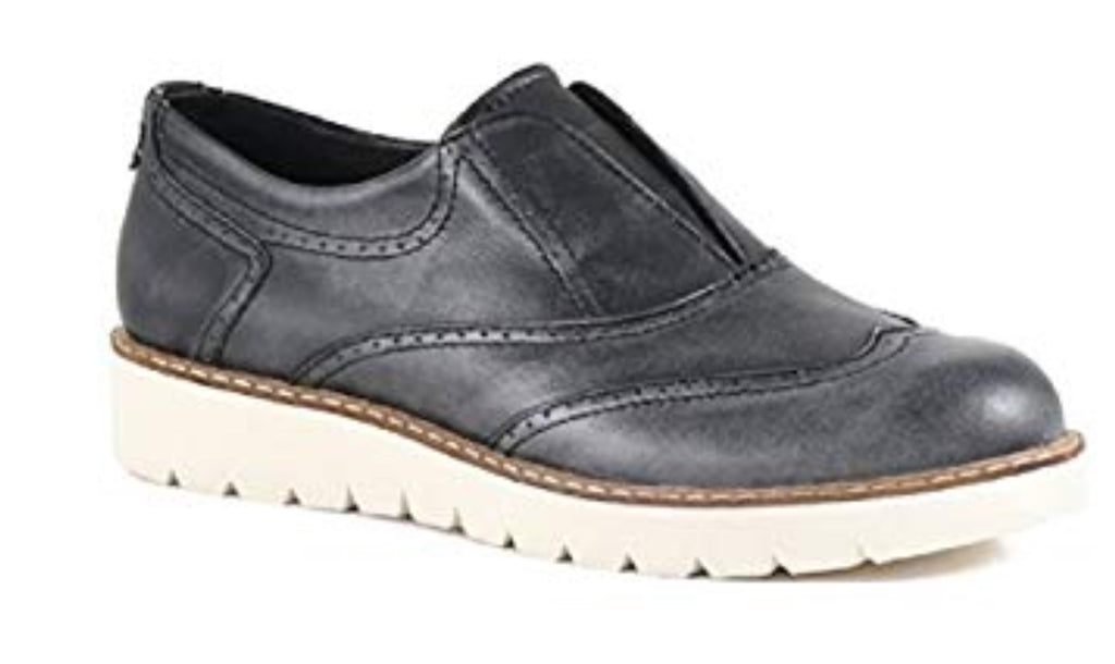 Bussola Libby Oxford Style Shoes in Soft Black Leather, Our Beautiful Price $89
