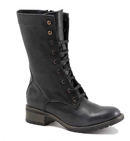Bueno Casey Boots in Black Leather, Our Beautiful Price $229