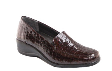 Volks Walkers W307 Lightweight in Burgundy Croc Patent, Our Beautiful Price $129