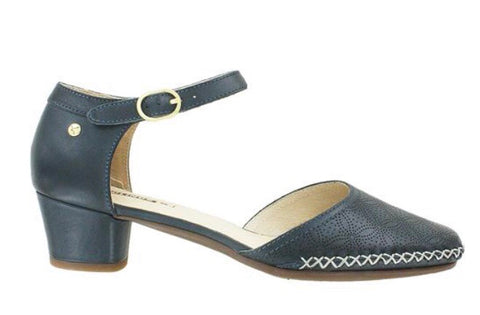 Pikolinos Gomera Sandals W6R-5911 in Ocean Navy Blue Leather, Our Beautiful Price $199
