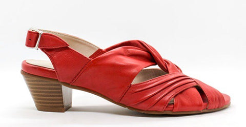 Canal Grande Sandals in Fiamma Red in Leather $159, Our Beautiful Price $99