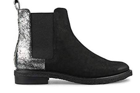 Wittner Harriette Boots in Leather, Silver and Black $265, Our Beautiful Price $179