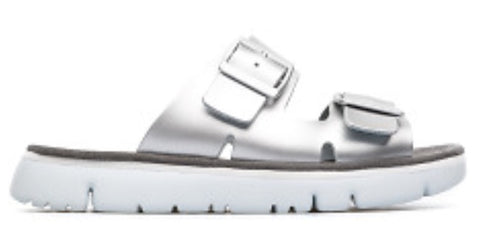 Camper Oruga Sandals in Silver Leather, Our Beautiful Price $99