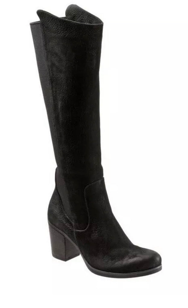 Bueno Walt Stretch Boots in Black Nubuck Leather $299, Our Beautiful Price $199
