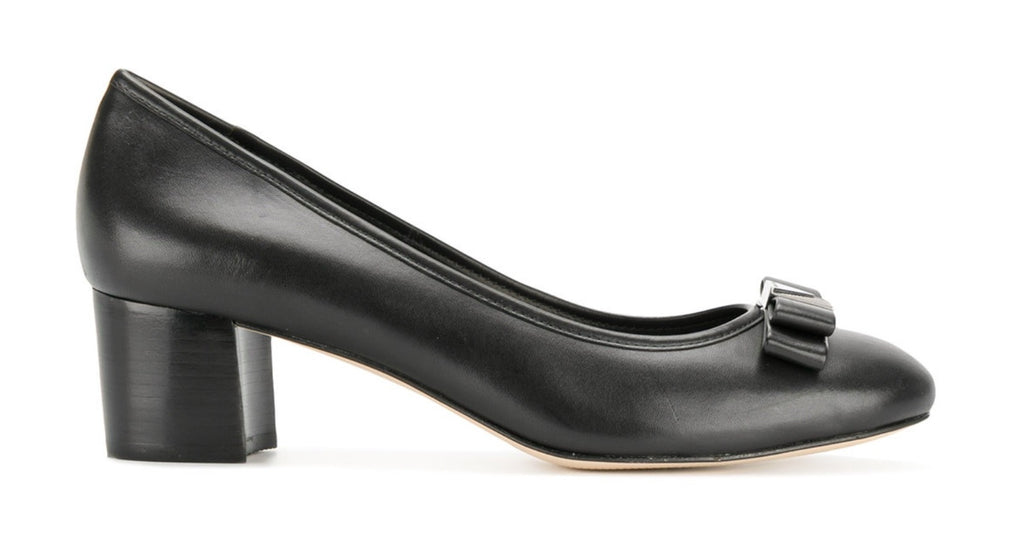 Michael Kors Caroline Mid Pump in Black Leather $159, Our Beautiful Price $129