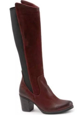 Bueno Walt Stretch  Boots Nubuck Leather in Red Tulip $299, Our Beautiful Price $199