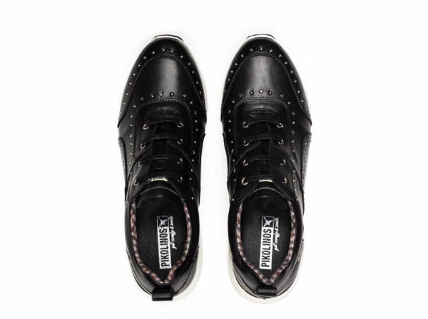 Pikolinos Sella Lace Up Sneakers in Black Leather $229, Our Beautiful Price $159