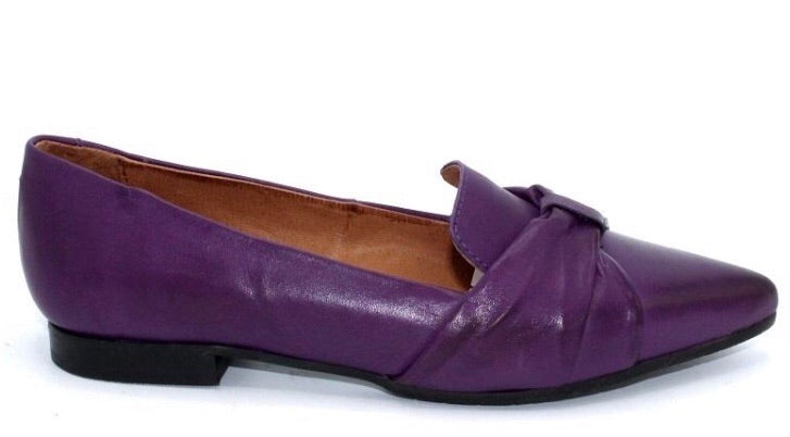 Miz Mooz Pointy Flats in Purple Leather $169, Our Beautiful Price $129