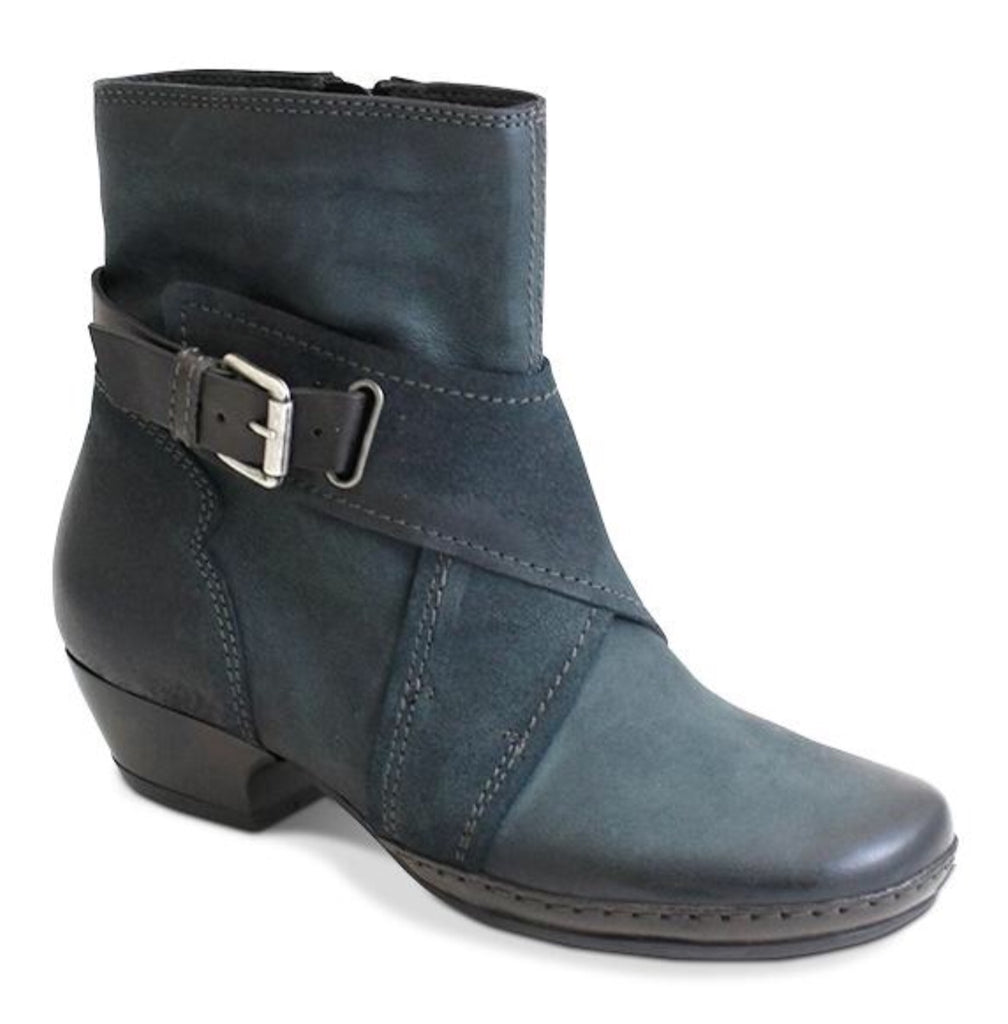 Miz Mooz Elwood Blue in Leather and Suede $285, Our Beautiful Price $159