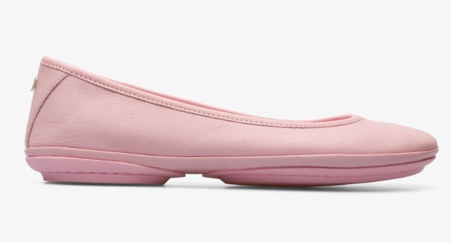 Camper Ballet Style Flats in Soft Pink Leather, Our Beautiful Price $149